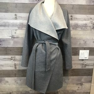 NWT ABERCROMBIE AND FITCH SIZE S GRAY WRAP COAT